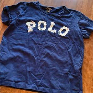 Polo women's navy cropped t-shirt